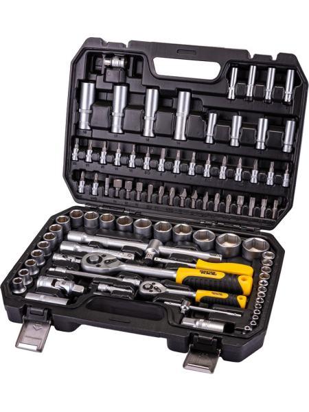 """Универсальний набор инструментов 94 элемента, сталь CrV, головки торцевые 1/4"""" и 1/2""""  пластиковый кейс PROFI MASTERTOOL 78-5094"""