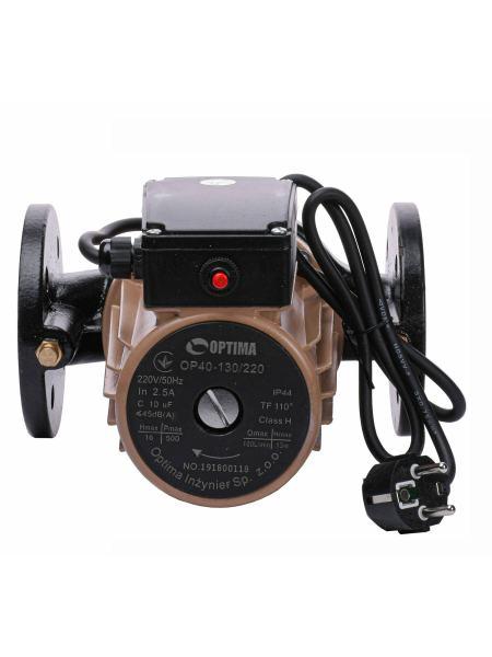 Насос циркуляционный фланцевый Optima OP40-130 220мм +  кабель с вилкой!
