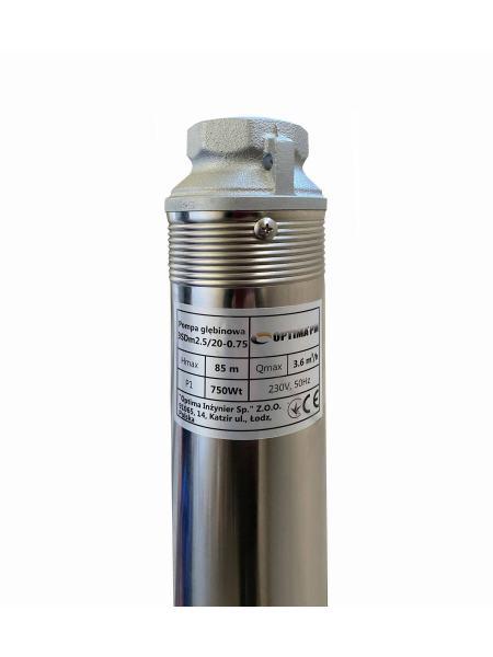 Насос скважинный с повышенной уст-тью к песку OPTIMA PM 3SDm2,5/20 0,75 кВт 90м + 15 м кабель