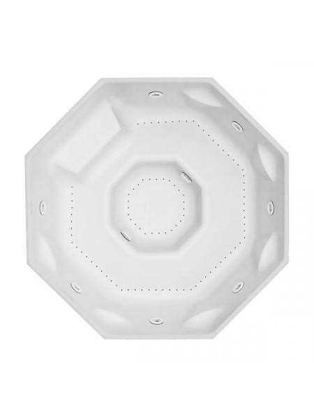 OCTAVIA бассейн 179*179см, со скиммером, многоместный, Exclusive, со светодиодной хромотерапией LED