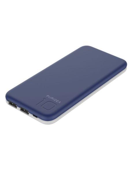 Портативное зарядное устройство Puridea S2 10000mAh Li-Pol Rubber Blue & White