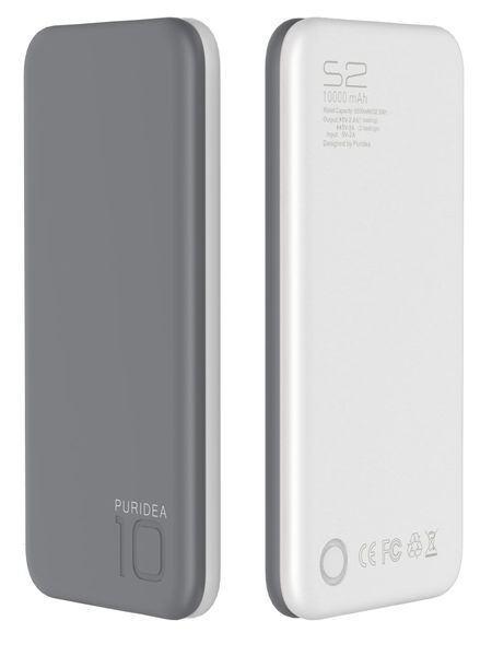 Портативное зарядное устройство Puridea S2 10000mAh Li-Pol Rubber Grey & White