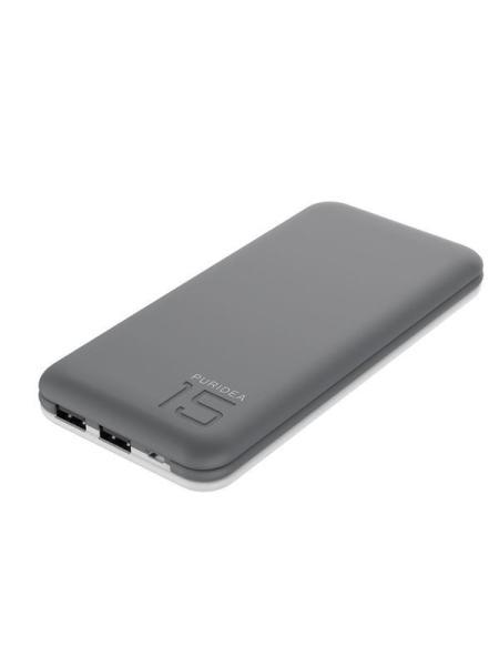 Портативное зарядное устройство Puridea S3 15000mAh Li-Pol Rubber Grey & White