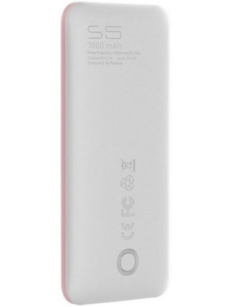 Портативное зарядное устройство Puridea S5 7000mAh Li-Pol Pink & White