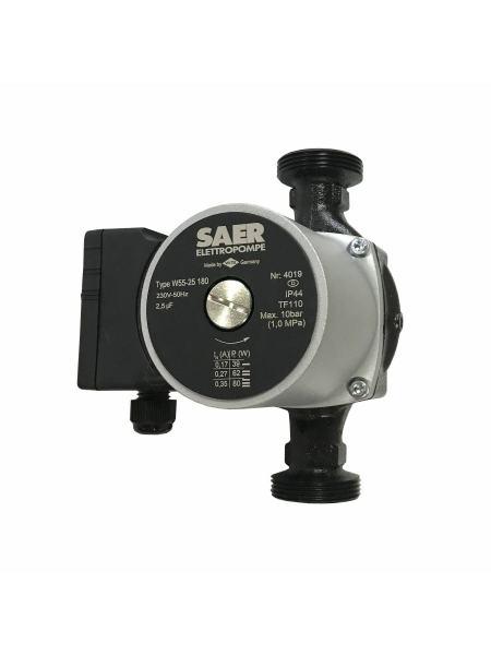 Насос циркуляционный SAER W55-25 180мм + гайки