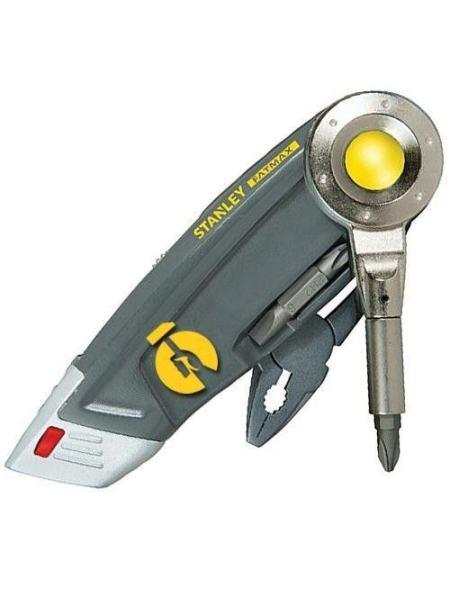 Нож Stanley Multi-Tool 4 в 1 с выдвижным лезвиями для отделочных работ (0-71-024)