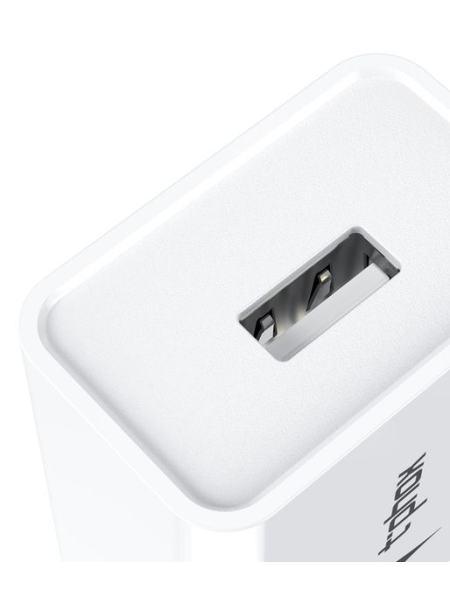 Сетевое зарядное устройство T-PHOX Mini 12W 2.4A + Type-C Cable 1.2m White
