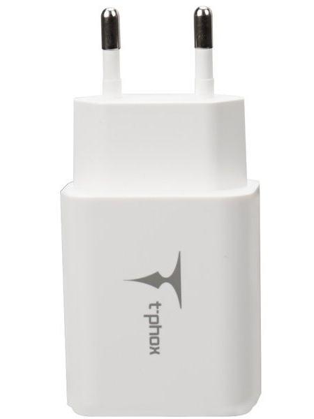 Сетевое зарядное устройство T-PHOX Pocket 2.1A Dual USB White