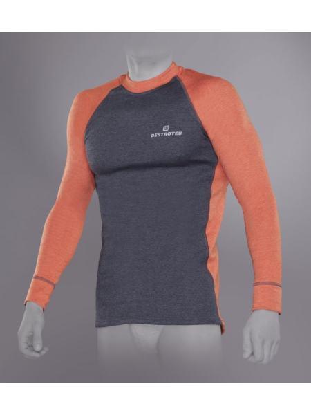Футболка Tramp Outdoor Tracking Man с длинным рукавом мужская М серый/оранжевый (TRUM-005T-orange-M)