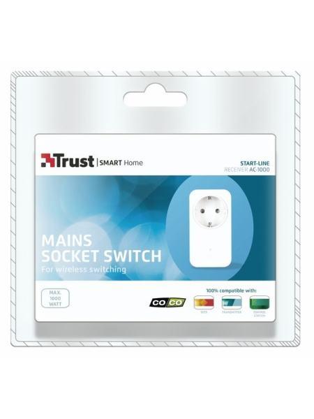 Выключатель сетевой розетки Trust AC -1000 Wall socket switch (&gt1000W)