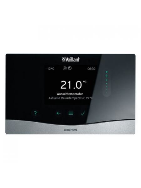 Программируемый погодозависимый регулятор с сенсорным управлением Vaillant sensoHOME VRT 380 f (0020260960)