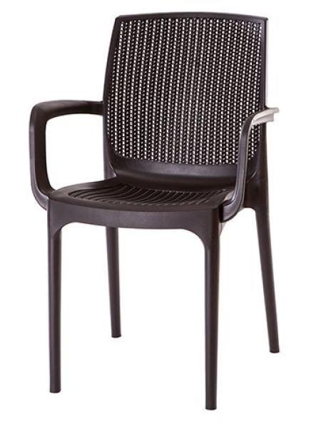 Кресло VIOLET HOUSE 0901 COFFEE Ротанг