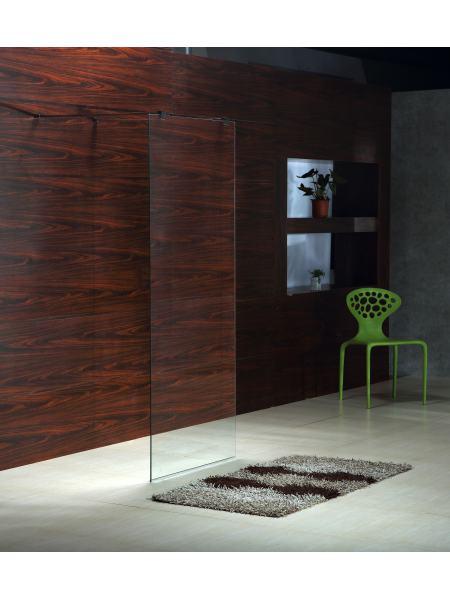 Стенка Walk-In 120*190см, каленое прозрачное стекло 8мм