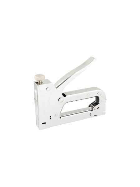 Степлер пружинный для скобы 4-14 мм 11,3*0,7 мм, корпус металл/хром WERTVOLL FX-1101