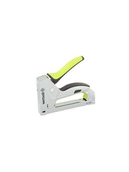 Степлер рессорный для скобы 6-10 мм 11,3*0,7 мм, корпус металл, обрезиненная ручка WERTVOLL FX-1102