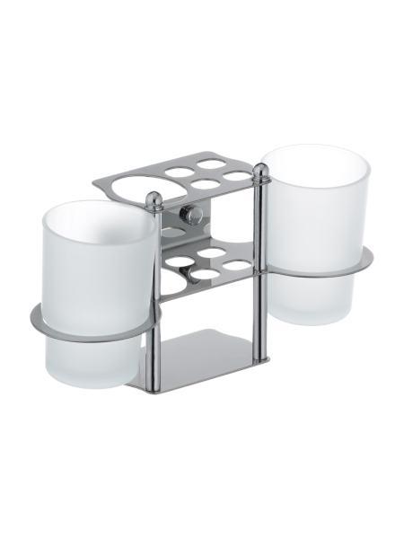 Подставка для щеток и пасты с двумя стаканами ZERIX LR103 (ZX2632)